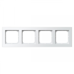 OSPEL SONATA Ramka poczwórna x4 biała R-4R/00
