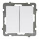 OSPEL SONATA Łącznik świecznikowy (podwójny) do ramki biały ŁP-2R/m/00