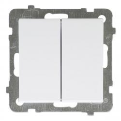 [OUTLET] OSPEL SONATA Łącznik podwójny (świecznikowy) do ramki biały ŁP-2R/m/00