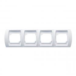[OUTLET] OSPEL GAZELA Ramka poczwórna x4 POZIOMA biała R-4JH/00
