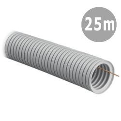 TADPOL Rura elektroinstalacyjna 32/24,5 mm peszel karbowany jasnoszary z pilotem RKGLP 320N 25mb