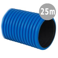 BASPOL Rura elektroinstalacyjna Ø50mm peszel karbowany niebieski do ziemi RDKK 450N 25mb