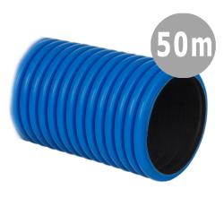 BASPOL Rura elektroinstalacyjna Ø40mm peszel karbowany niebieski do ziemi RDKK 450N 50mb