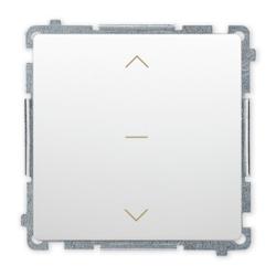SIMON BASIC Wyłącznik łącznik żaluzjowy trójpozycyjny 1-0-2 do ramki biały BMZW1K.01/11