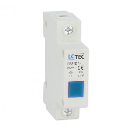 Lampka sygnalizacyjna kontrolna LED 1F niebieska