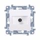 SIMON 10 Gniazdo antenowe TV do ramki białe CAK1.01/11