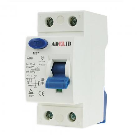 ADELID Wyłącznik różnicowoprądowy 2P 25A 30mA typ AC WR6