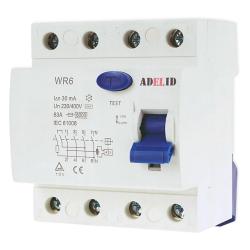 ADELID Wyłącznik różnicowoprądowy 4P 63A 30mA typ AC WR6