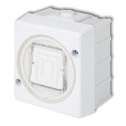 KARLIK SENIOR Łącznik pojedynczy natynkowy IP44 biały WHS-1
