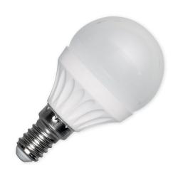 EKO-LIGHT ŻARÓWKA LED KULKA G45 E14 3W BARWA ZIMNA