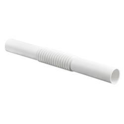 PLASTROL Złączka karbowana do rur instalacyjnych łącznik giętki PCV biały Z-16
