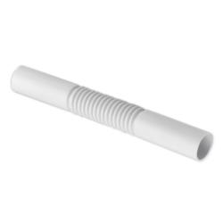PLASTROL Złączka karbowana do rur instalacyjnych Ø18 łącznik giętki PCV biały Z-18