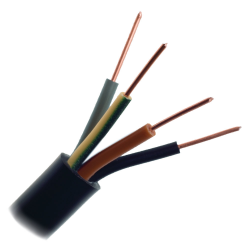 Przewód energetyczny drut YKY 4x2,5 mm² 0,6/1kV czarny 1mb