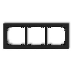 KARLIK DECO Ramka potrójna czarny mat 12DR-3