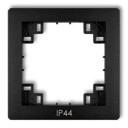 KARLIK DECO Ramka pośrednia uszczelniająca IP44 do łączników czarny mat 12DRPH