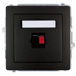KARLIK DECO Gniazdo głośnikowe pojedyncze czarny mat 12DGG-1