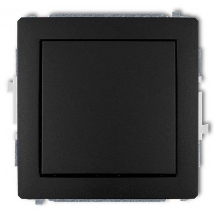 KARLIK DECO Przycisk łącznik zwierny pojedynczy do ramki czarny mat 12DWP-4.1