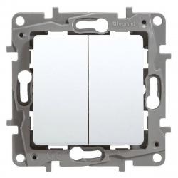 Legrand NILOE Przycisk podwójny do ramki biały 764508