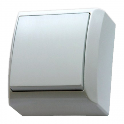 OSPEL BIS Łącznik pojedynczy natynkowy biały ŁN-1B/00