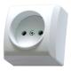 OSPEL BIS Gniazdo pojedyncze natynkowe b/uziem białe GN-1B/00