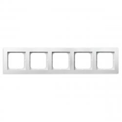 OSPEL AS Ramka pięciokrotna x5 biała R-5G/00
