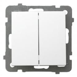 OSPEL AS Łącznik podwójny świecznikowy do ramki biały ŁP-2G/m/00