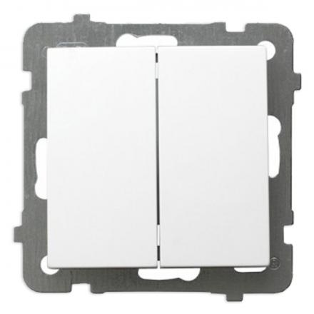 OSPEL AS Łącznik podwójny świecznikowy biały ŁP-2G/m/00