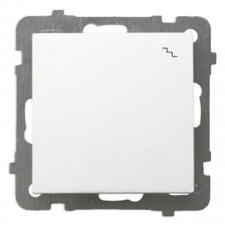OSPEL AS Łącznik schodowy pojedynczy do ramki biały ŁP-3G/m/00