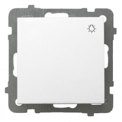 """OSPEL AS Przycisk łącznik zwierny """"światło"""" biały ŁP-5G/m/00"""