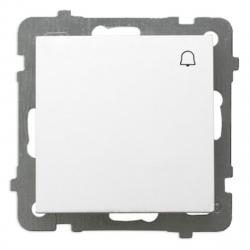 """OSPEL AS Przycisk łącznik zwierny """"dzwonek"""" biały ŁP-6G/m/00"""