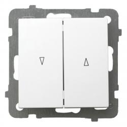 OSPEL AS Przycisk łącznik żaluzjowy zwierny 2-klawisze góra-dół biały ŁP-7G/m/00