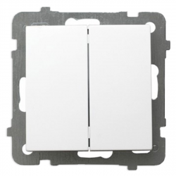 OSPEL AS Łącznik schodowy podwójny do ramki biały ŁP-10G/m/00