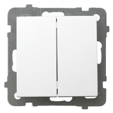 OSPEL AS Łącznik schodowy podwójny biały ŁP-10G/m/00