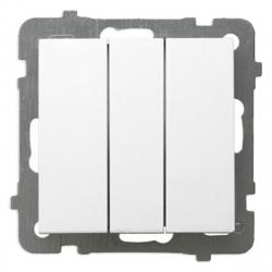 OSPEL AS Łącznik potrójny biały ŁP-13G/m/00