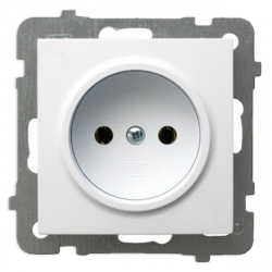 OSPEL AS Gniazdo pojedyncze b/u do ramki białe GP-1G/m/00