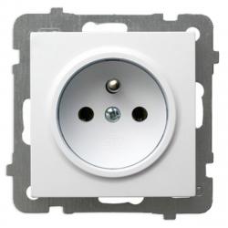OSPEL AS Gniazdo pojedyncze z/u do ramki białe GP-1GZ/m/00