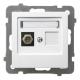 """OSPEL AS Gniazdo antenowe typ """"F"""" do ramki białe GPA-1GF/m/00"""