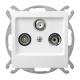 OSPEL AS Gniazdo antenowe RTV-SAT przelotowe do ramki białe GPA-GS/m/00