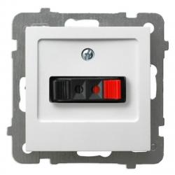 OSPEL AS Gniazdo głośnikowe pojedyncze do ramki białe GG-1G/m/00