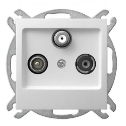 OSPEL IMPRESJA Gniazdo antenowe RTV-SAT końcowe do ramki białe GPA-YS/m/00