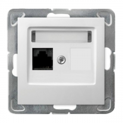 OSPEL IMPRESJA Gniazdo komputerowe RJ-45 - wymiary (z ramką)