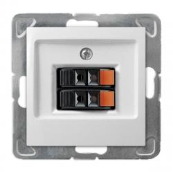 OSPEL IMPRESJA Gniazdo głośnikowe podwójne do ramki białe GG-2Y/m/00
