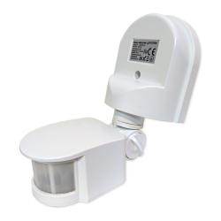 LEDSYSTEMS Czujnik ruchu sensor IR automat zmierzchowy natynkowy IP44 180° biały SES10WH