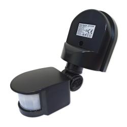 LEDSYSTEMS Czujnik ruchu sensor IR automat zmierzchowy natynkowy IP44 180° czarny SES10BL