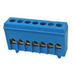 XBS Zacisk przyłączeniowy na szynę mostek izolowany 7-polowy 7x16mm² niebieski NKSZ-7N
