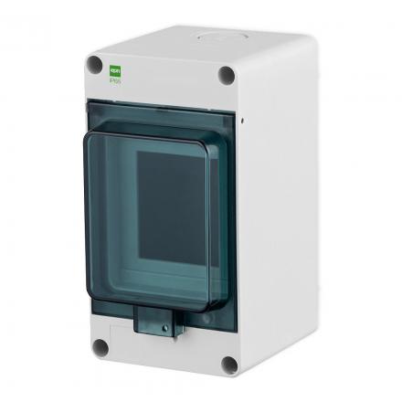 Elektro-Plast Rozdzielnica natynkowa HERMETICA RN-1x3 IP65 szara 2201-01