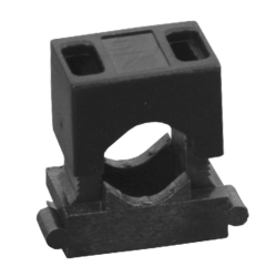 Elektro-Plast Uchwyt montażowy do przewodów dwuczęściowy UM-16 czarny 50 szt.