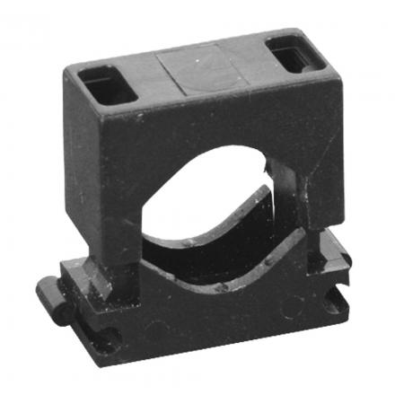 Elektro-Plast Uchwyt montażowy do przewodów dwuczęściowy UM-24 czarny 50 szt.