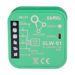ZAMEL SUPLA ODBIORNIK WI-FI DOPUSZKOWY STEROWNIK LED RGB SLW-01
