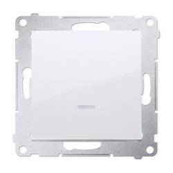 SIMON 54 Wyłącznik łącznik pojedynczy z podświetleniem do ramki biały DW1L.01/11